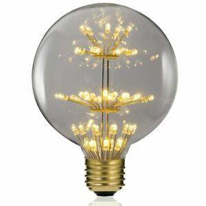 E27 ES Retro Edison Large Globe Starry Bulbs 3W Firework LED Lights Indoor Decor
