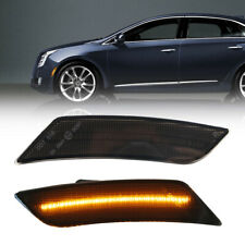 Smoke Lens Amber LED Front Side Marker Lamp for 13-14 Cadillac ATS 17-up XT5 2PC
