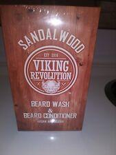 Viking Revolution Beard Wash & Beard Conditioner Set w/Argan & Jojoba Oils