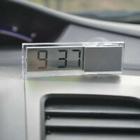 Car Digital Led Clock Mini Electronic Sucker Window Meter JD