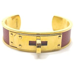 Hermes Bangle  Gold Reds  708405