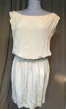 donna karan $1200 high end label runway light beige Roman goddess dress M