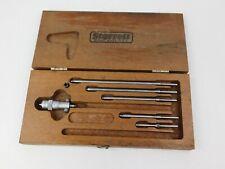 Starrett No 124 Inside Micrometer Set In Wood Case 2 8 Range