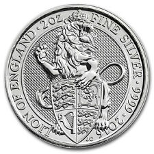 2oz (Onza Troy) Lion of England, Queens Beasts, Moneda De Plata Fina 999.9, 2016