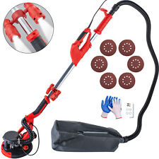 Drywall Sander 750W 225mm Extendable Handle 5 Speed w/ Led light Vacuum Bag