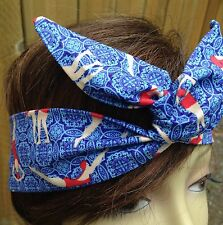 Wire Headband Dolly Bow Vintage Swimsuits  Print Bandanna Rockabilly Scarf