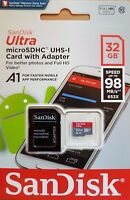 New SanDisk Class 10 Ultra 32GB 98MB/s Micro SD SDHC Memory Card UHS-I with adap