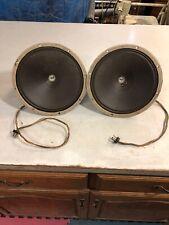 Pair of Field Coil Speakers