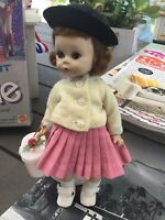 "1959 Madame Alexander Kins Bent Knee Walker 8""Doll Wendy Dress ORIGINAL NMINT"