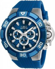 wachawant: Invicta 24386 Force 52mm Quartz Blue Silicone Dial Bezel Men's Watch