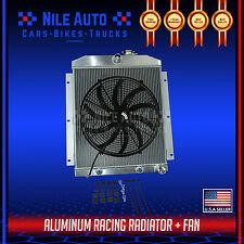 "3 ROW ALUMINUM RADIATOR FOR 47-54 CHEVY 3100/3600/3800 TRUCK PICKUP l6+16"" FAN"