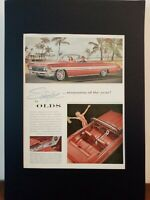 Pubblicità originale OLDS del 1961 da rivista in passepartout
