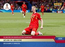 BELGIUM 🇧🇪 De Bruyne 2018 Panini Instant World Cup card #275 Soccer FIFA