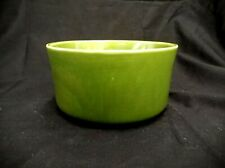 "BEAUTIFUL ART HAEUGER POTTERY USA ROUND JADE GREEN PLANTER BOWL 6"" W X 3"" H"