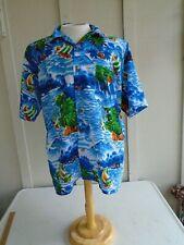 Maui Trading Company Mens Blue Shirt Size XL Tropical Hawaiian Green White