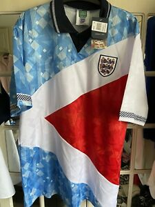 Score Draw Official Retro England Italia 90 Mash Up Shirt XXL New With Tags