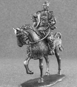 Toy Soldiers Medieval 1/32 Japanese Samurai Cavalry Horse Rider Tin Metal 54mm