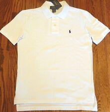 POLO RALPH LAUREN ORIGINAL BOYS NEW AUTHENTIC WHITE DRESS T-SHIRT Size 7, NWT