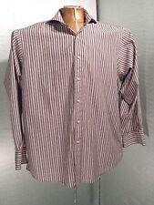 Sean John Striped Signature Button Long Sleeve Dress Shirt XL Size 17