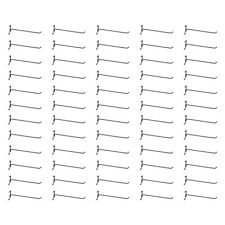 "50 Pc GLOSS BLACK 12"" Long Gridwall Hooks Grid Panel Display Wire Metal Hanger"