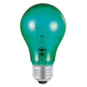 Westinghouse  25 watts A19  Incandescent Bulb  Green  A-Line  1 pk