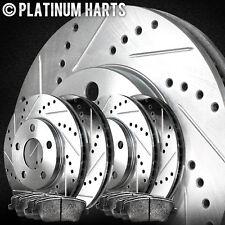 [FULL KIT]PLATINUM HART DRILLED SLOT  BRAKE ROTORS AND SEMI MET PAD PHCC.6606703