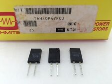 (3 pcs) TAH20P47R0J Ohmite, 20 Watt 47 Ohm 5%, High Power, Thick Film Resistor