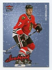 08-09 FLEER ULTRA ICE MEDALLION #120 BRENT SEABROOK 002/100 BLACKHAWKS *56292