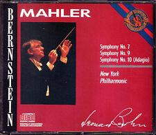 Leonard BERNSTEIN: MAHLER Symphony No.7 9 10 Adagio CBS 1986 3CD New York Phil