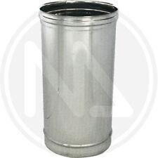Tubo scarico fumi stufa pellet canna fumaria acciaio inox 304 12 x 100 cm 29552