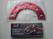 "Ek Black Racing Kart Chain, #35 106 link 40"" and 65T #35 Sprocket"