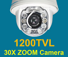 CCTV 1200TVL SONY CMOS 30x Zoom 8IR PTZ DOME Security Auto Tracking Camera #216
