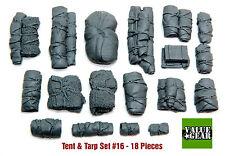 1/35 Universal Tents & Tarps Set #16 - Value Gear Details - 18 Pieces