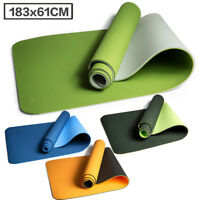 183*61*0.6cm Yoga Mat Workout Exercise Mat Gym Fitness Pilates Non-Slip Mat TPE