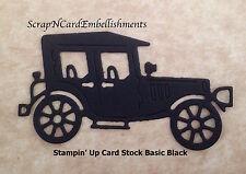 • • • Die Cuts ~ 'OLD CAR' - x10 ~ Black Stampin' Up C/S ~ Cards ~ Scrapbooking