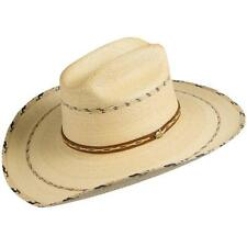 NWT Alamo Montana Palm Straw Rancher Crown Fitted Cowboy Hat Size 6 7/8