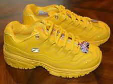 NEW Women's Skechers Yellow Sport Athletic Sneakers Shoes Size 7