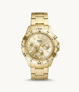 Fossil Garrett Chronograph Gold-Tone Stainless Steel Men's Watch