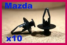10 MAZDA bumper fender front rear panel lining fastener screw clip guard