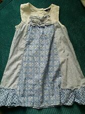 3-4 years girl blue and white summer dress from george