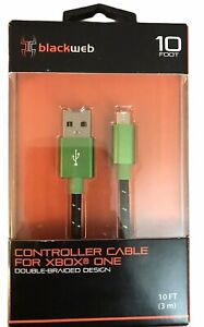 Blackweb Controller Cable for Xbox One 10 ft. (3m) Double-Braided Micro USB New