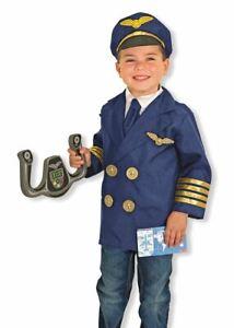 Melissa & Doug Pilot Role Play Fancy Dress Costume Occupations Aviator Age 3-6