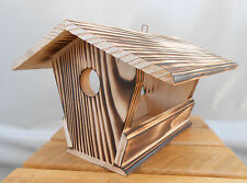 Wood Birds House Feeder Garden Yard Hanging Birdhouse Bird Table Robust Handmade
