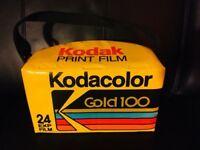 🔴 Bellissima borsa pubblicitaria vintage KODAK Gold originale anni 70