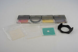 Lot of 7 Cokin A Series Filters and Holder with 49mm Adapter V08