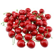 1X(Artificial Lifelike Simulation Red Cherries Fake Fruit for Party Decorat M2F6