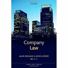 Company Law by Alan Dignam, John Lowry ( 2014)  Oxford Text Book 8th Edition