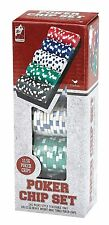 Cardinal Industries 11.5g Poker Chip Set 100ct Las Vegas Style Stackable Tray
