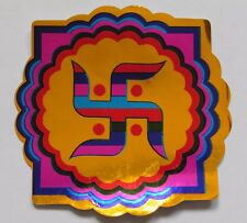Aprox Radha Krishna Golden Dios Hindú Pegatina 12.8 cm X 17.8 Cm