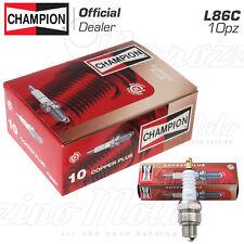 KIT 10 CANDELE CHAMPION L86C PASSO CORTO PIAGGIO VESPA PRIMAVERA-125